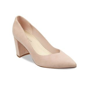 MARC FISHER Caitiln Light Pink Suede Pumps Sz 8